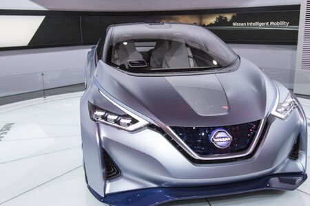 nissan: DETROIT - JANUARY 17 :The 2017 Nissan IDS concept at The North American International Auto Show January 17, 2016 in Detroit, Michigan.