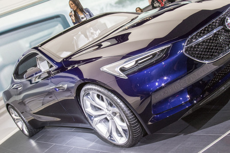 american media: DETROIT - JANUARY 17 :The 2017 Buick vista concept at The North American International Auto Show January 17, 2016 in Detroit, Michigan.