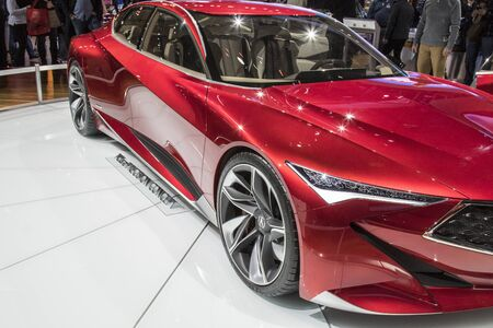 acura: DETROIT - JANUARY 17 :The acura precision concept at The North American International Auto Show January 17, 2016 in Detroit, Michigan.