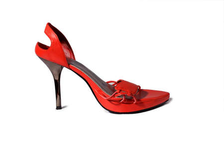 Red female shoe Stock Photo
