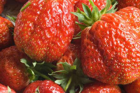closeup of strawberries Stock Photo