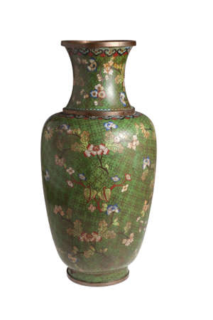 The Chinese metal vase Stock Photo - 11641595