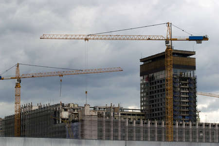 Dismantling of building of hotel Russia