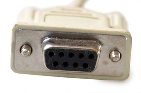 serial: computer serial connector Stock Photo