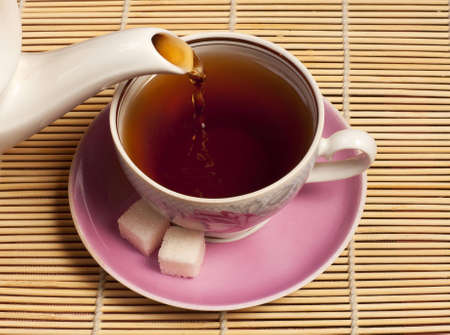 pekoe: Cup in which pour tea Stock Photo