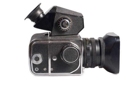 middle format photo camera isolated on white background photo