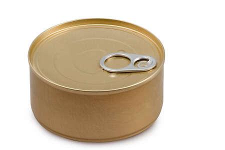 Tin can on white bacground