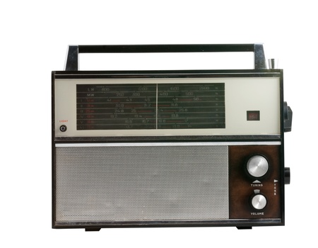 old radio receiver isolated with clipping path Stock Photo - 17960996