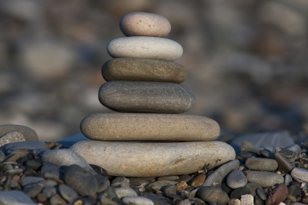 stack of pebble stones Stock Photo - 18005682