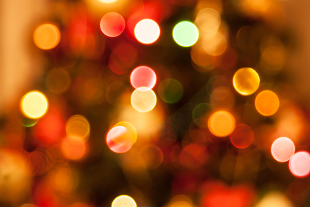 natural defocused christmas lights, good for background photo