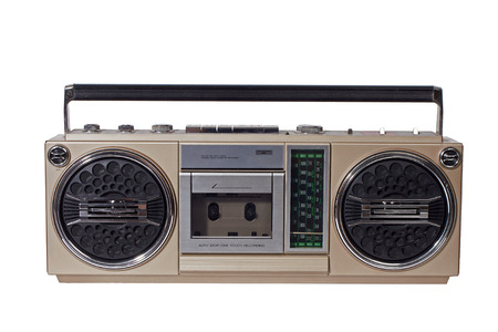 retro ghetto blaster isolated