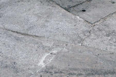 Textured grunge city street. The Ground for Street Road. Sidewalk, Vintage Design Flooring Square Pattern 写真素材