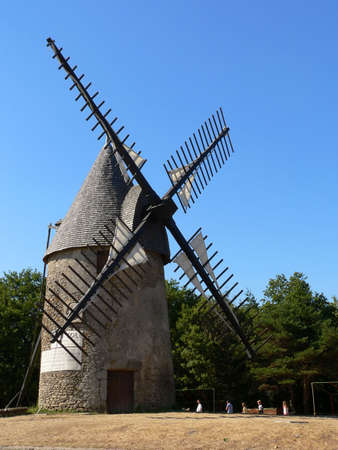 Windmill in west of France photo