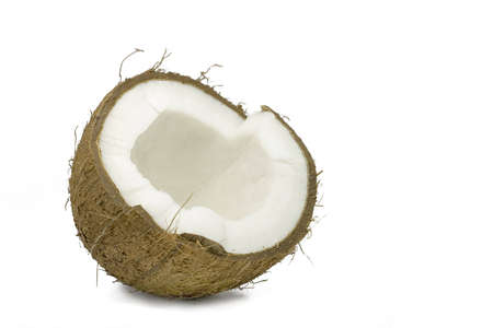 Open coconut isolated on white Stock Photo - 1011165