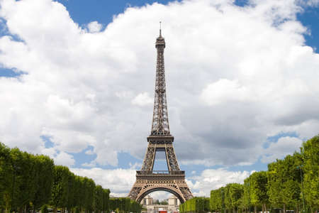 Eiffel tower on background cloud blue sky Stock Photo - 1455547