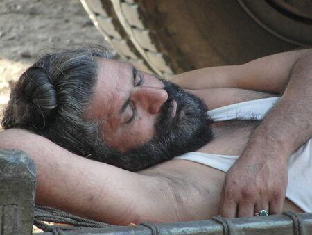 truck driver: Truck Driver Sleeping