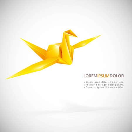 Vector origami, paper bird Vector