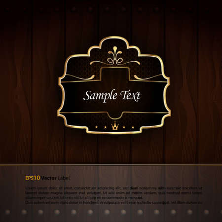 Golden Royal Labels | Elegant Presentation | EPS 10 with Separate Layers Named Accordingly Vector