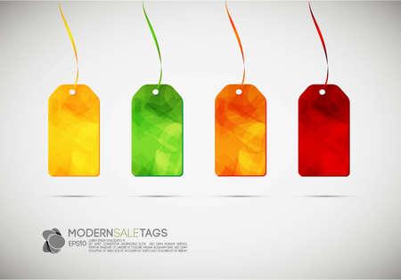 Modern Sale Tags | Vector Illustration