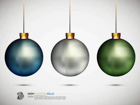 christmas ball: Shiny Christmas Balls | Illustration