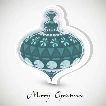 compatibility: Vintage card with Christmas ball | EPS10 Compatibility Required