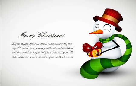 Christmas greeting card whith cute Snowman| EPS10 Compatibility Required