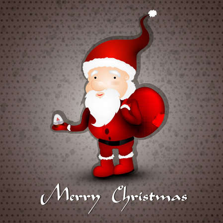 compatibility: Christmas greeting card whith cute Santa Claus  | EPS10 Compatibility Required