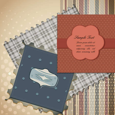 Cute scrapbook elements  | EPS10 Compatibility Required