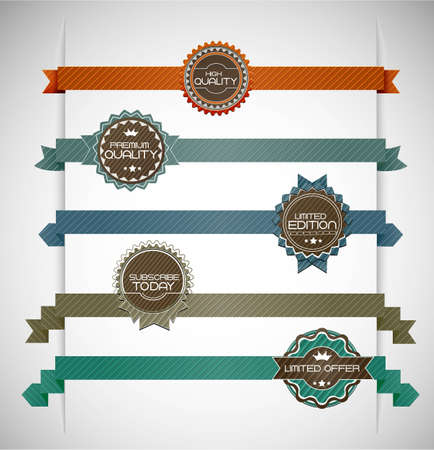 Vector illustration of vintage retro labels | EPS10 Compatibility Required Stock Vector - 11013264