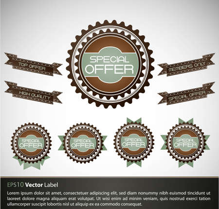 compatibility: Special Offer Labels with retro design | EPS10 Compatibility Required Illustration