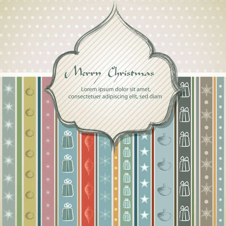 Christmas background  vintage style    EPS10 Compatibility Required Illustration