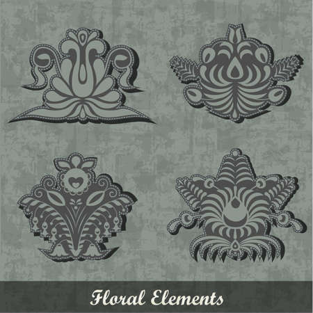 Floral Decoration Elements / Army style | EPS10 Compatibility Required Stock Vector - 11194797