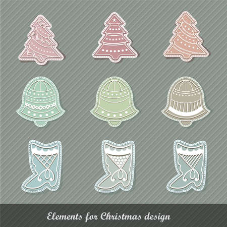 Christmas elements | EPS10 Compatibility Required Vector