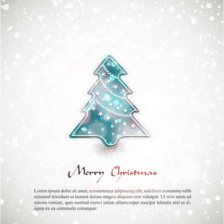 compatibility:  Christmas card with tree | EPS10 Compatibility Required