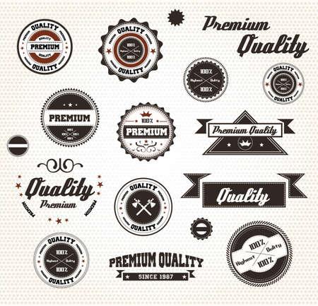 Labels de qualité haut de gamme avec un design rétro / Compatibilité requis