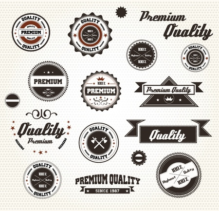 badge ribbon: Premium Quality Labels with retro design  Compatibility Required