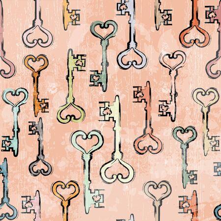 Retro Pattern with  Key