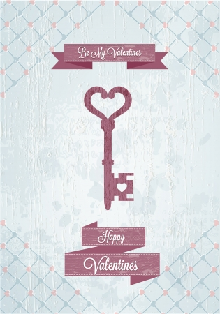 Happy Valentines Day Cards with Key
