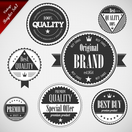 Premium Quality labels with retro vintage design - Compatibility Required