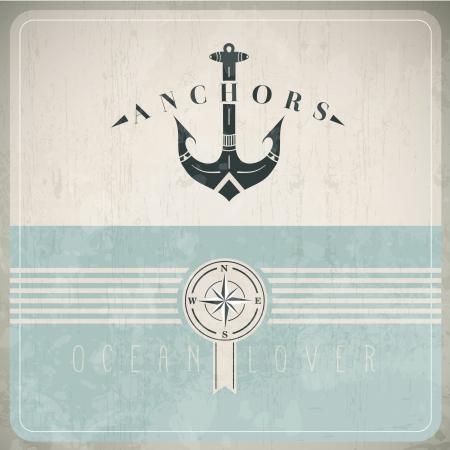 at anchor: Plantilla de dise�o vintage con Anchor - Compatibilidad EPS10 requerida