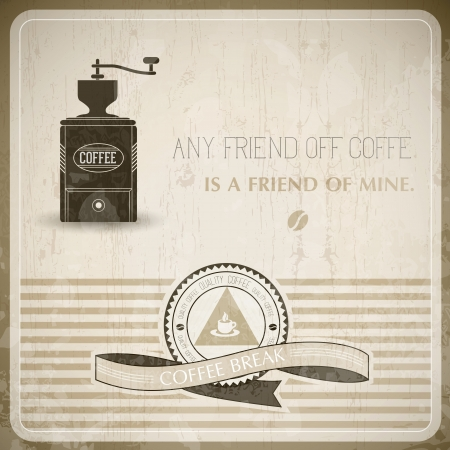 Vintage Coffee Background - Compatibility Required Vector