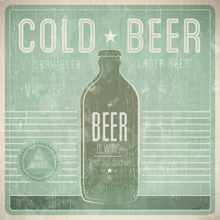 required: Beer Vintage Design Template - Compatibility Required Illustration