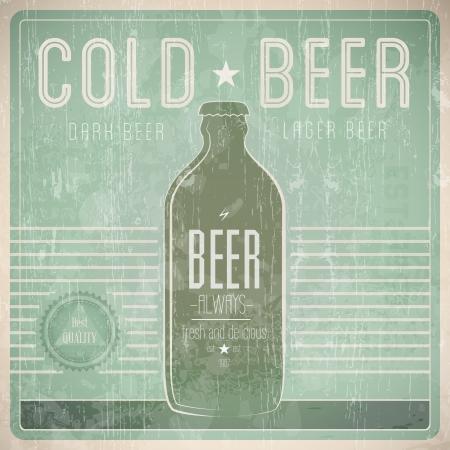 beer bar: Beer Vintage Design Template - Compatibility Required Illustration