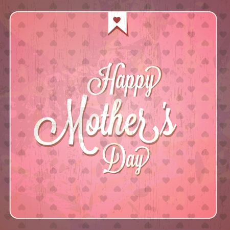 retro font: Vintage Happy Mothers Day Cards - Compatibilit� obbligatori