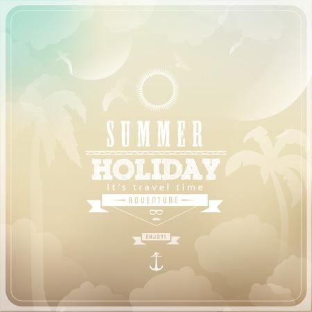 Summer Holiday colour background Illustration