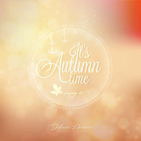 It s Autumn time Typography - Autumn, creative graphic message for your autumn design  Illustration