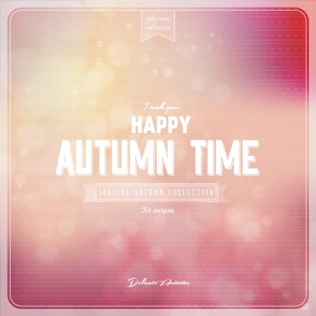 It s Autumn time Typography - Autumn, creative graphic message for your autumn design  Vector