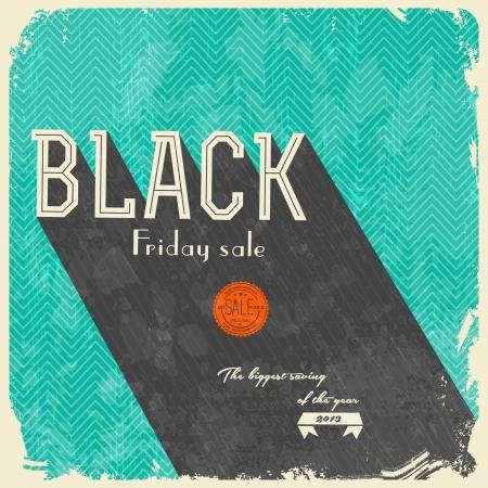 negro: Viernes Negro caligráficos Designs - estilo vintage Vectores