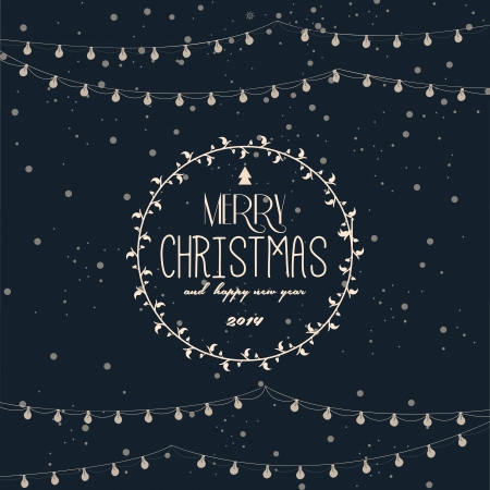 christmas x mas:  Vintage styled Christmas Card - Set of calligraphic and typographic elements