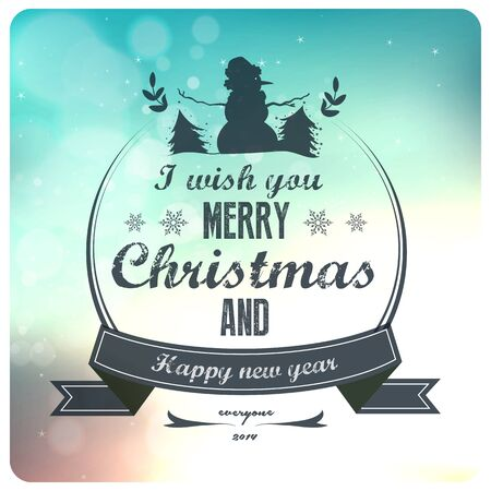 x mas background:  Vintage styled Christmas Card - Set of calligraphic and typographic elements